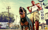 Official Gta V Artwork Franklin And Chop