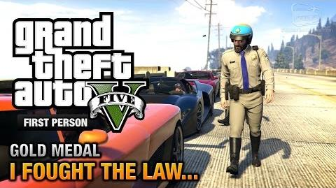 GTA 5 - Mission 41 - I Fought the Law... First Person Gold Medal Guide - PS4