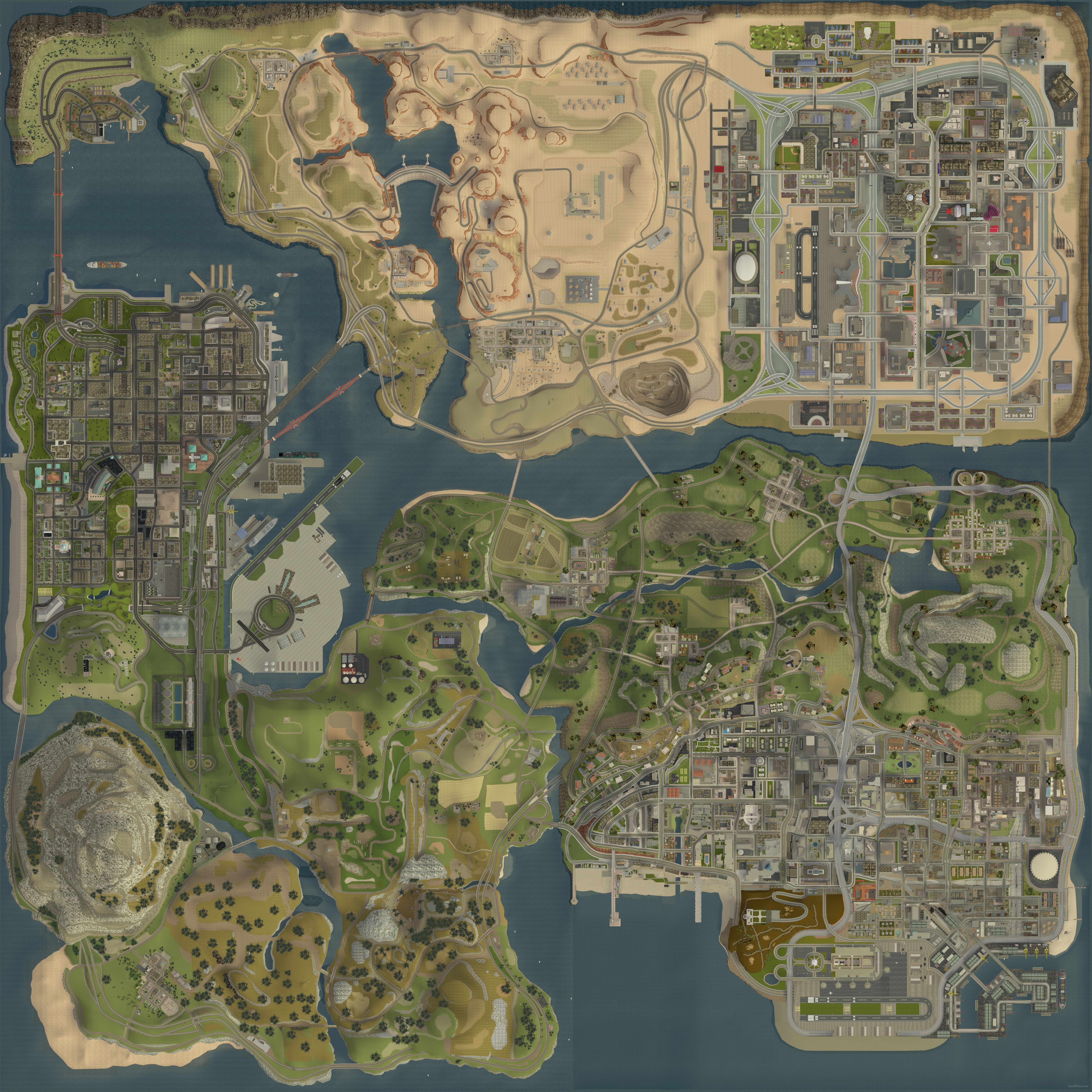 San Andreas Map State of San Andreas | GTA Wiki | FANDOM powered by Wikia San Andreas Map