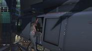 GTA Online Protagonist Rappeling from Maverick