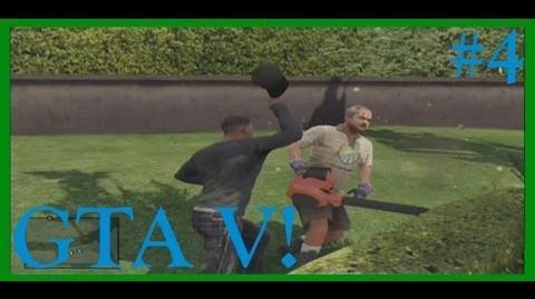 GTA V! JUDO CHOPPING A GARDENER! (Part 4)