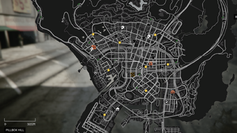 gta v strip club map