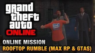 GTA Online - Mission - Rooftop Rumble 1.13 Max RP & Money - Full Lobby