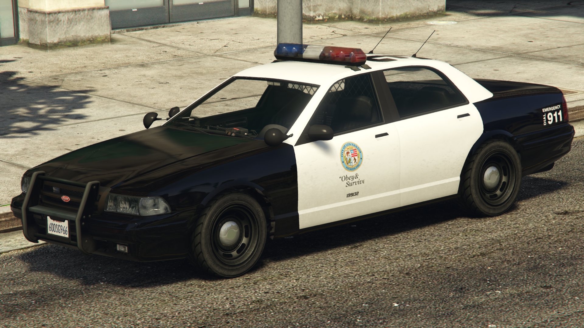 The Nd Generation Stanier Based Police Cruiser In Grand Theft Auto V Rear Quarter View