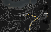 Vehicle Import Circuit GTAO Sandy Shores Airfield Map