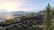 Official PC Screenshot GTAV Facebook Alamo Train