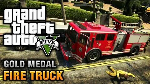 GTA 5 - Mission 65 - Fire Truck 100% Gold Medal Walkthrough
