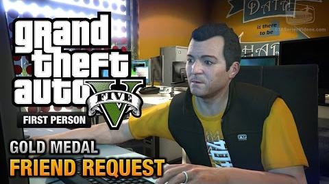 GTA 5 - Mission 8 - Friend Request First Person Gold Medal Guide - PS4