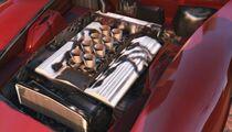 Stinger Gta V Engine Close Up