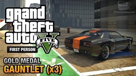 GTA 5 - Mission 74 - Gauntlet (x3) First Person Gold Medal Guide - PS4
