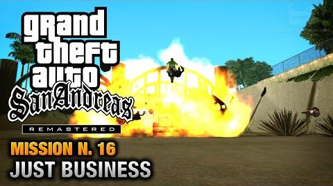 GTA San Andreas Remastered - Mission 16 - Just Business (Xbox 360 PS3)