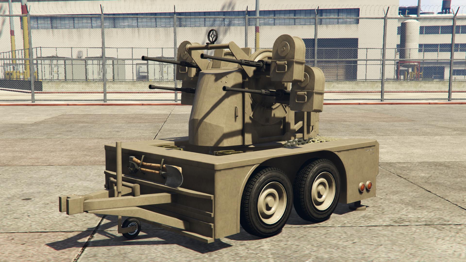 Znalezione obrazy dla zapytania gta 5 anti aircraft trailer