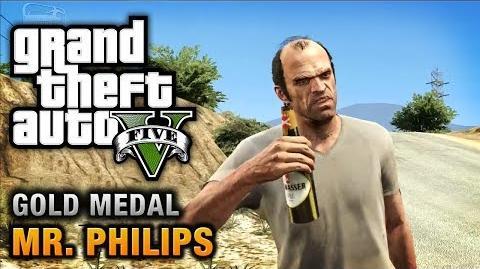 GTA 5 - Mission 17 - Mr. Philips 100% Gold Medal Walkthrough