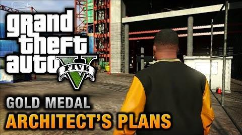 GTA 5 - Mission 63 - Architect's Plans 100% Gold Medal Walkthrough