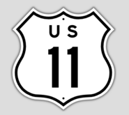 1957 Style US Route 11 Shield