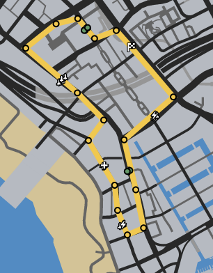 Vespucci Dreams GTAO Race Map