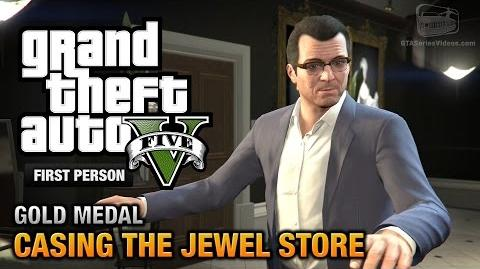 GTA 5 - Mission 11 - Casing the Jewel Store First Person Gold Medal Guide - PS4