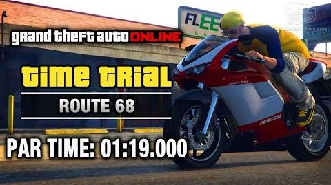 GTA Online - Time Trial 16 - Route 68 (Under Par Time)