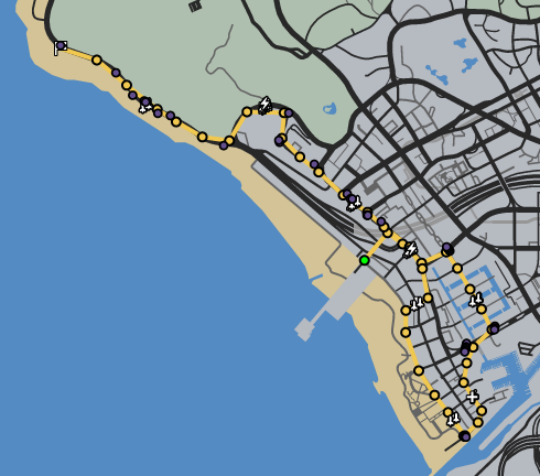 Beach side race GTAO Verified Map