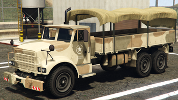 The Military Army Trailer In Grand Theft Auto V