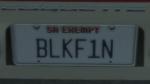 Custom Plate GTAO BLKF1N