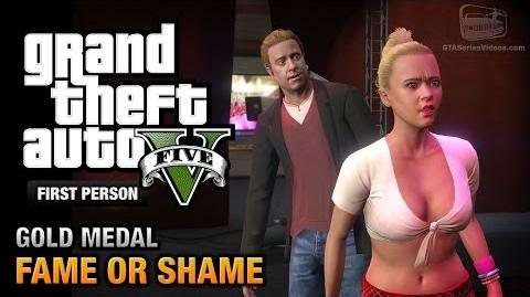 GTA 5 - Mission 22 - Fame or Shame First Person Gold Medal Guide - PS4