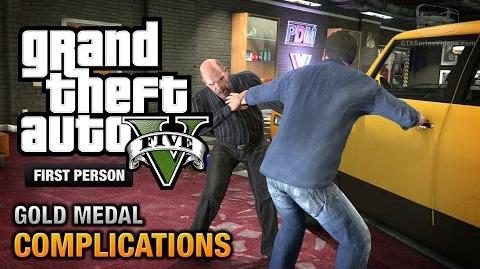 GTA 5 - Mission 3 - Complications First Person Gold Medal Guide - PS4