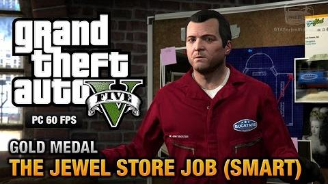 GTA 5 PC - Mission 16 - The Jewel Store Job (Smart Approach) Gold Medal Guide - 1080p 60fps