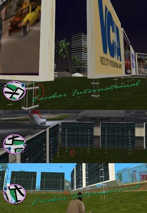 GTAVC HiddenPack 98 under SW billboard corner lining airport road