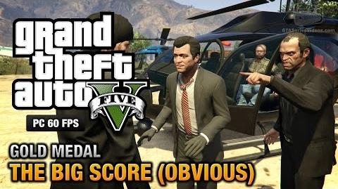 GTA 5 PC - Mission 79 - The Big Score (Obvious) Gold Medal Guide - 1080p 60fps