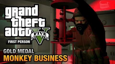 GTA 5 - Mission 54 - Monkey Business First Person Gold Medal Guide - PS4