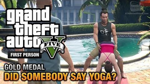 GTA 5 - Mission 26 - Did Somebody Say Yoga? First Person Gold Medal Guide - PS4
