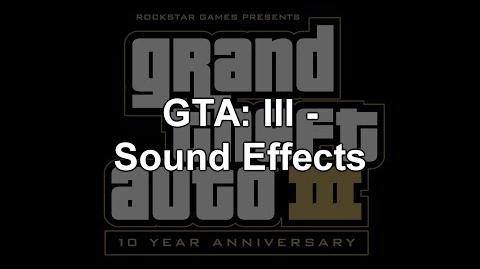 Grand Theft Auto III - Sound Effects - PC