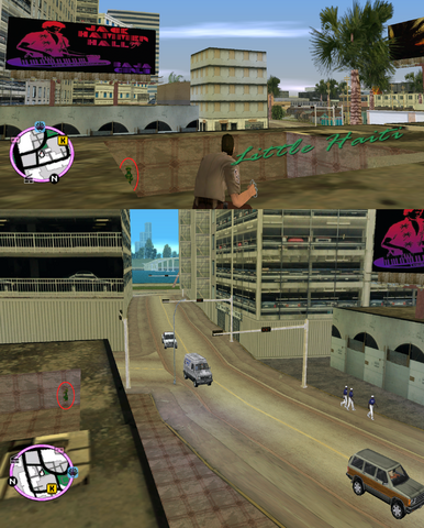 File:GTAVC HiddenPack 68 SE corner of pit on roof E of 'MoveOverMiami' billboard.png