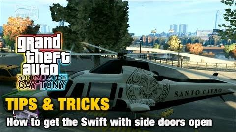 GTA The Ballad of Gay Tony - Tips & Tricks - How to get the Swift with side doors open