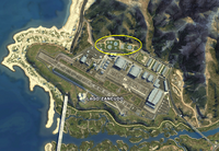 Zancudo Treatment Works GTAV Satellite Map