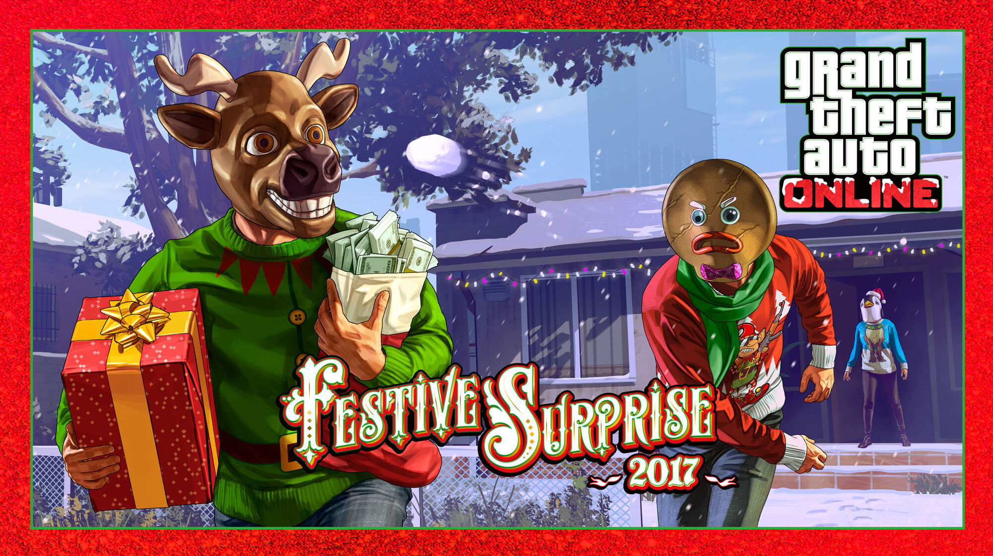 All Christmas Masks Gta Online.Festive Surprise 2017 Gta Wiki Fandom Powered By Wikia