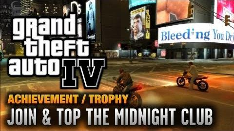 GTA 4 - Join & Top The Midnight Club Achievement Trophy (1080p)