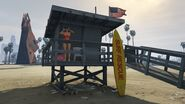 Lifeguard GTAVe Vespucci Watchtower with Surfboard