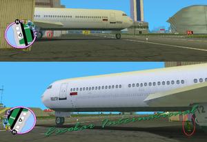 GTAVC HiddenPack 93 Under biggest plane in hangars W of runways