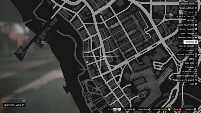 File:Vehicle Export Showroom GTAO Pinkslips Vespucci Map.png