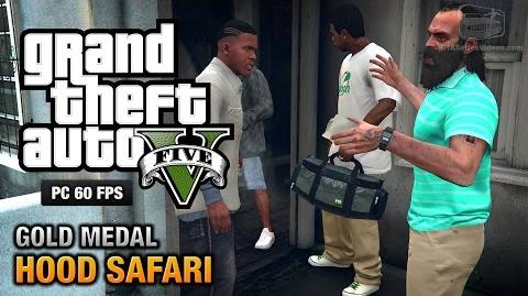 GTA 5 PC - Mission 27 - Hood Safari Gold Medal Guide - 1080p 60fps
