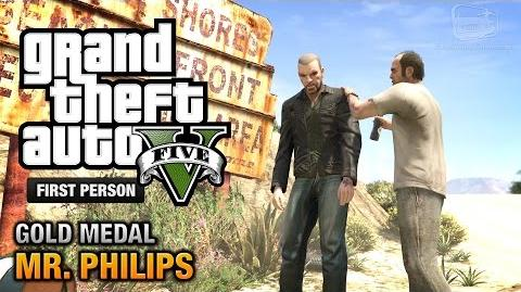 GTA 5 - Mission 17 - Mr. Philips First Person Gold Medal Guide - PS4