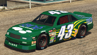 HotringSabre-GTAO-Liveries-43-Raine-Green-FrontQuarter