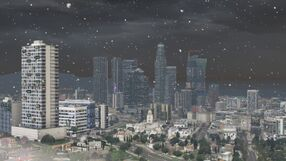 Los Santos with snow