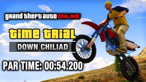 GTA Online - Time Trial 22 - Down Chiliad (Under Par Time)