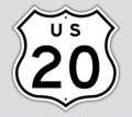 1957 Style US Route 20 Shield.png
