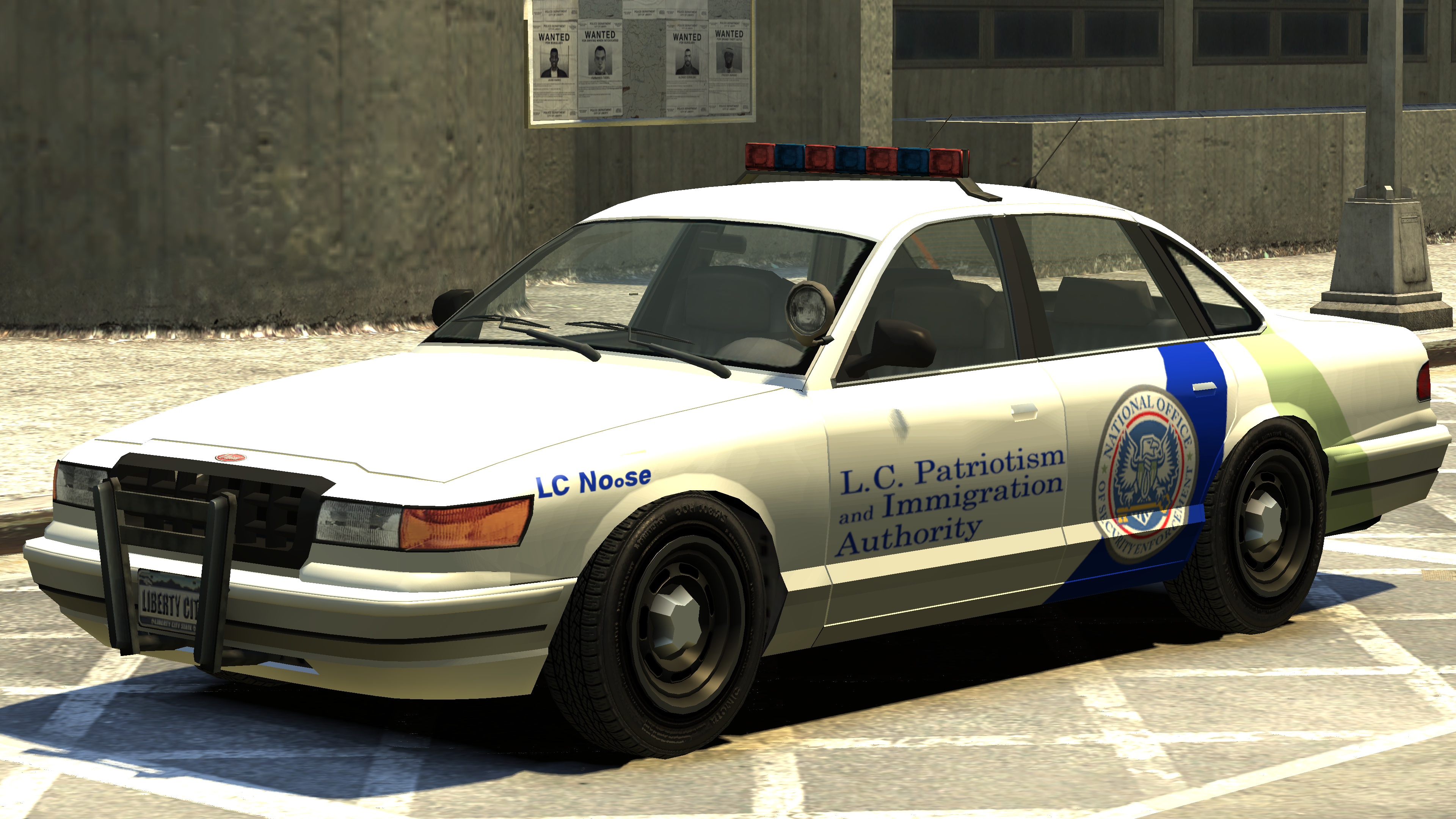The St Generation Stanier Based Noose Cruiser In Grand Theft Auto Iv Rear Quarter View