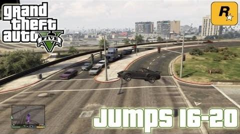 GTA5 Stunt Jumps 16-20 (Tutorial) Grand Theft Auto V PS3 Xbox 360 ᴴᴰ