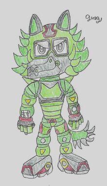Flare's battle suit